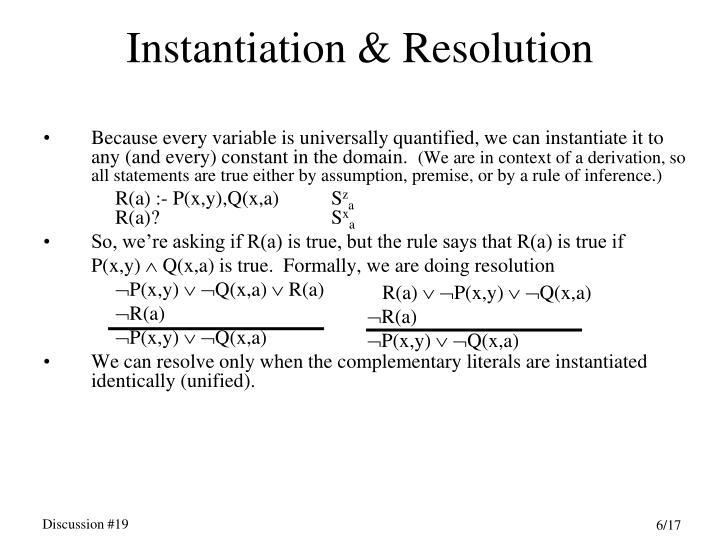 Instantiation & Resolution