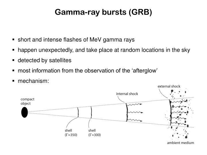 Gamma-ray bursts (GRB)
