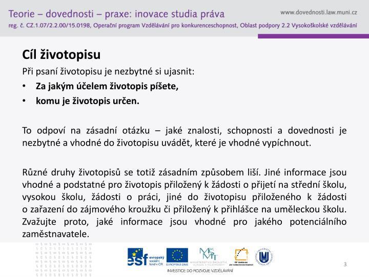 Ppt Jak Napsat Zivotopis Powerpoint Presentation Id 5105028