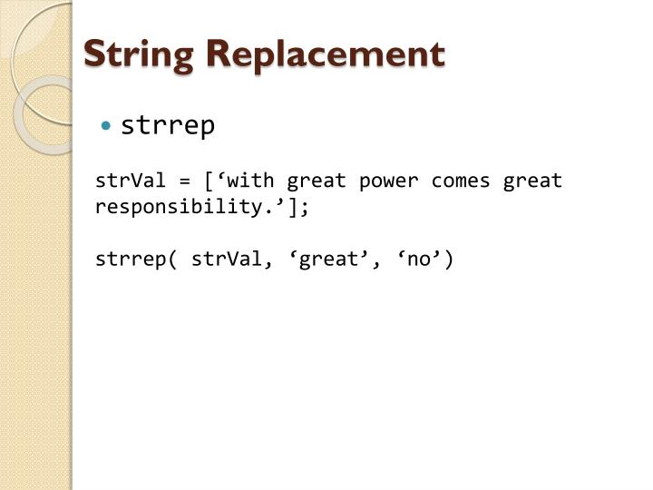 String Replacement