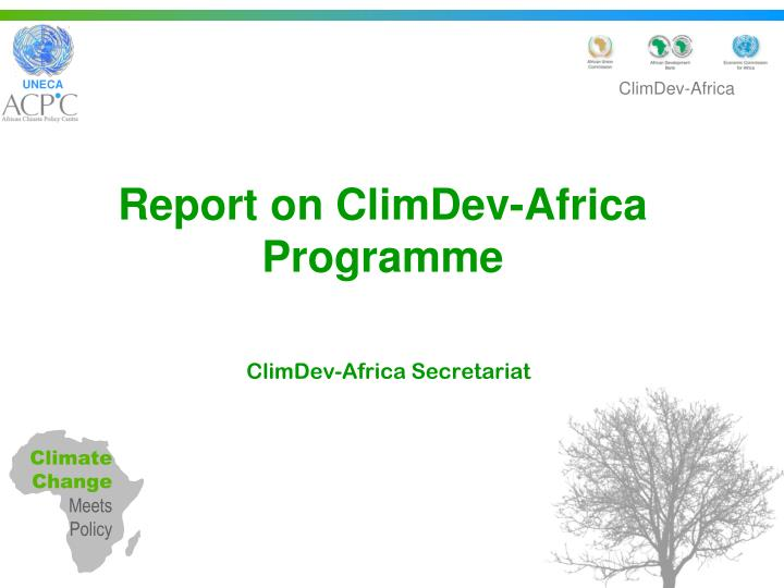 report on climdev africa programme n.