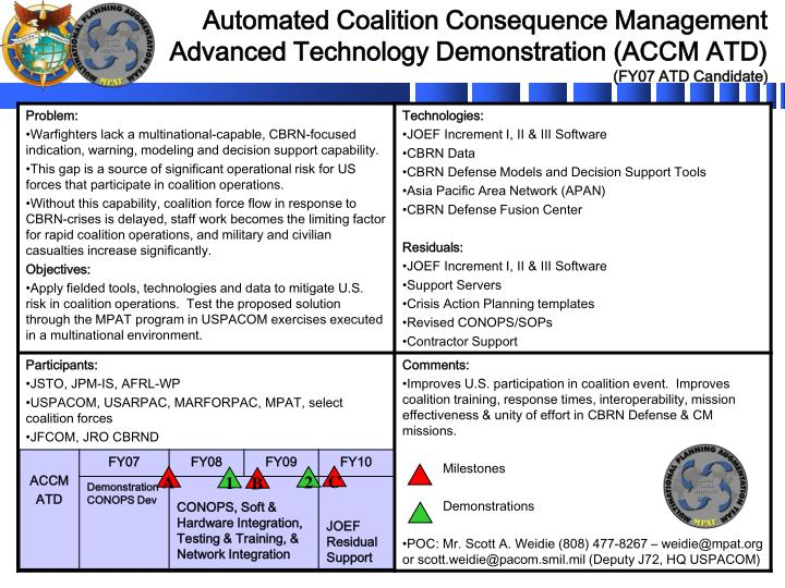 Ppt accm atd quad chart ver03sep06 powerpoint presentation id download presentation automated coalition consequence management toneelgroepblik Image collections