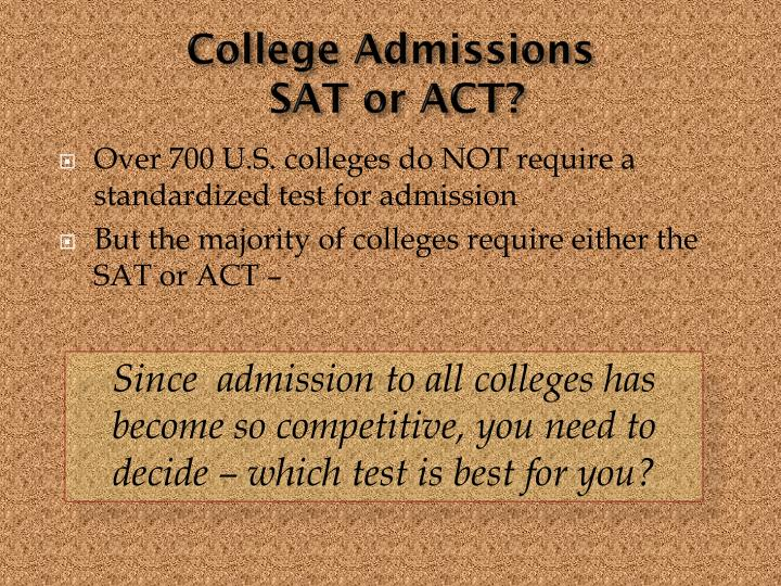 College admissions sat or act