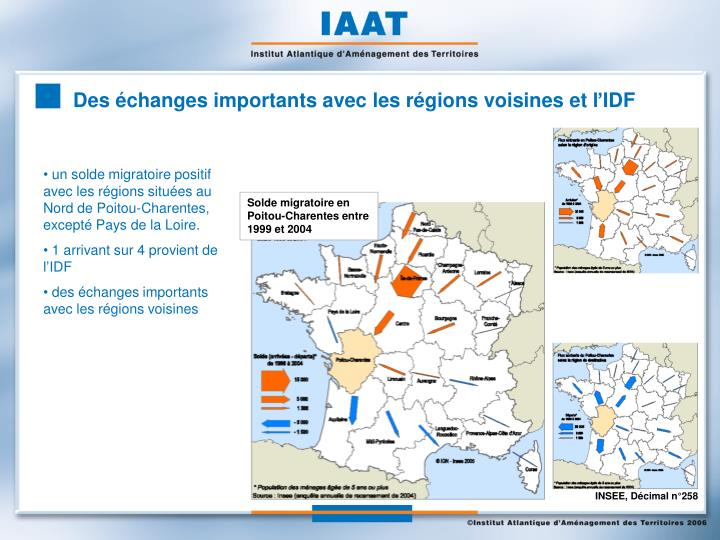 Des échanges importants avec les régions voisines et l'IDF
