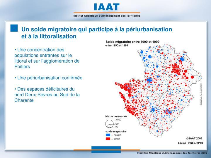 Un solde migratoire qui participe à la périurbanisation et à la littoralisation