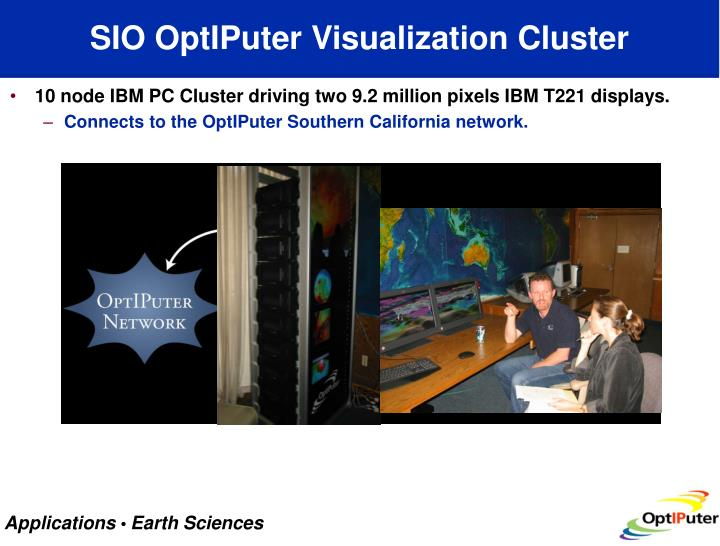 Sio optiputer visualization cluster