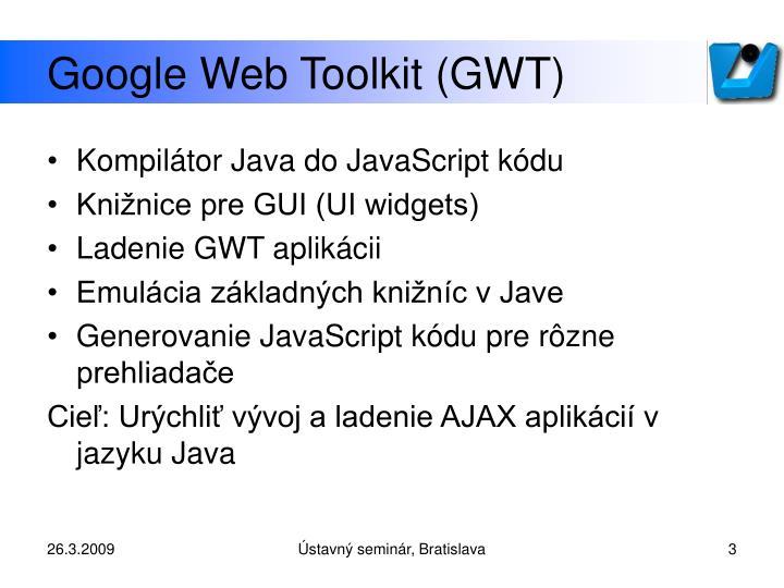Google web toolkit gwt