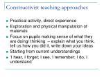 constructivist teaching approaches