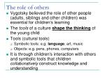 the role of others
