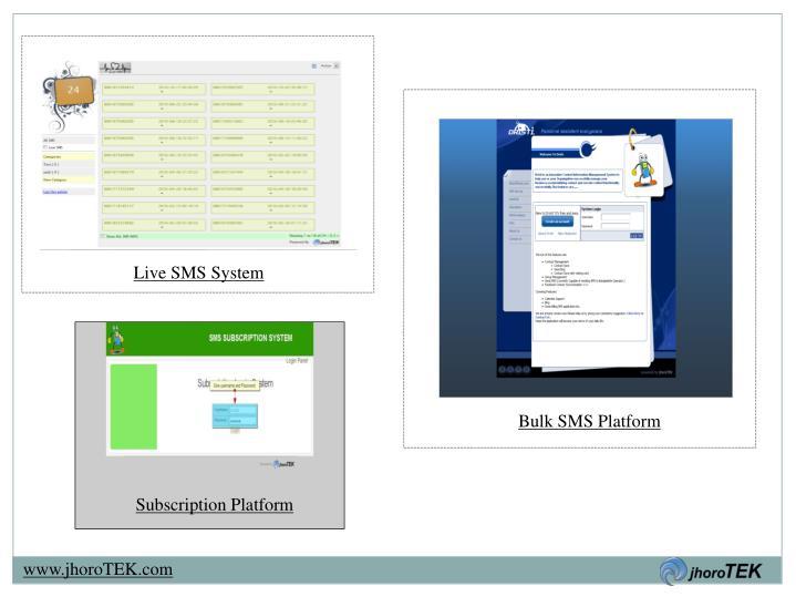 Live SMS System