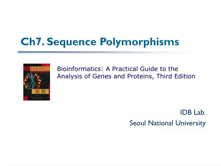 ch7 sequence polymorphisms n.
