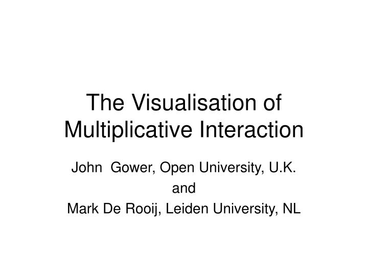 The visualisation of multiplicative interaction
