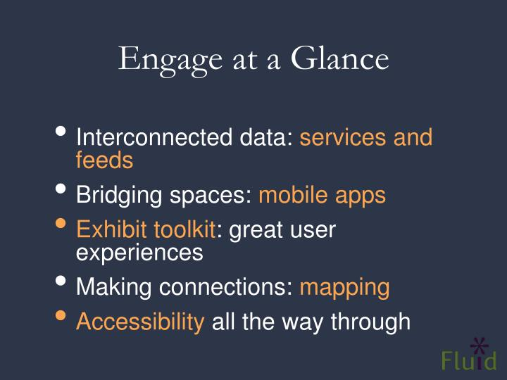 Engage at a Glance