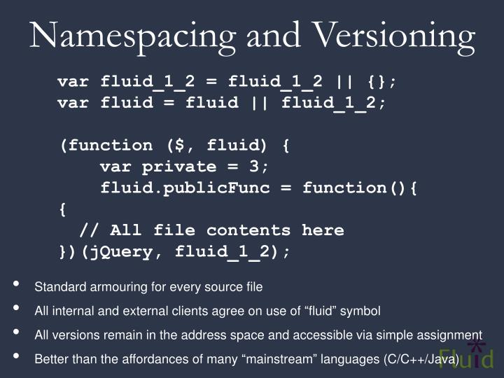 Namespacing and Versioning