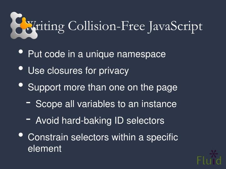 Writing Collision-Free JavaScript