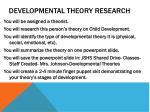 developmental theory research