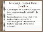 javascript events event handlers