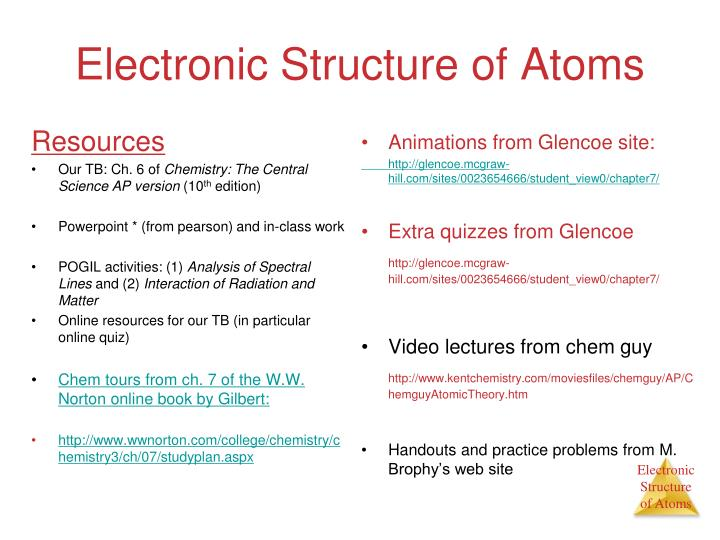 Ppt electronic structure of atoms powerpoint presentation id5106796 electronic structure of atoms ccuart Choice Image