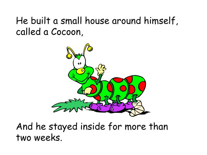 He built a small house around himself, called a Cocoon,