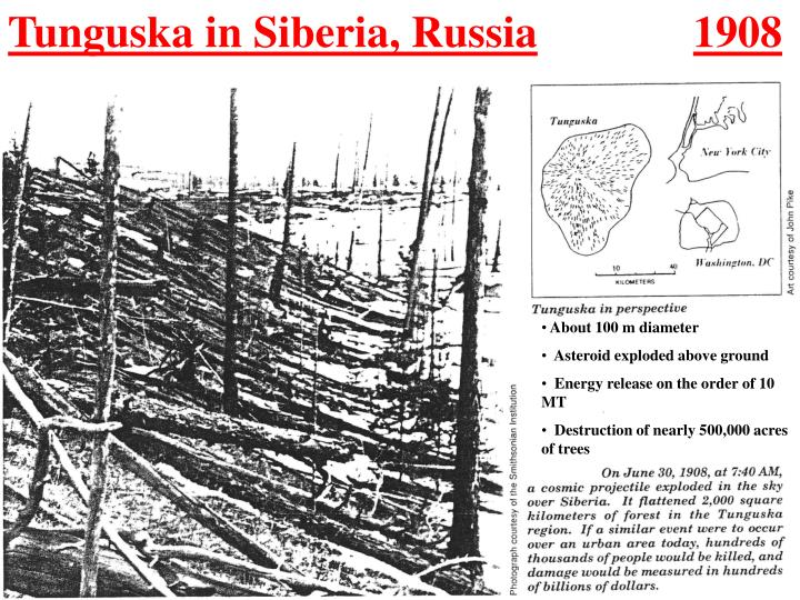 Tunguska in Siberia, Russia