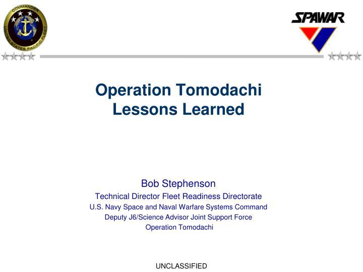 operation tomodachi lessons learned n.