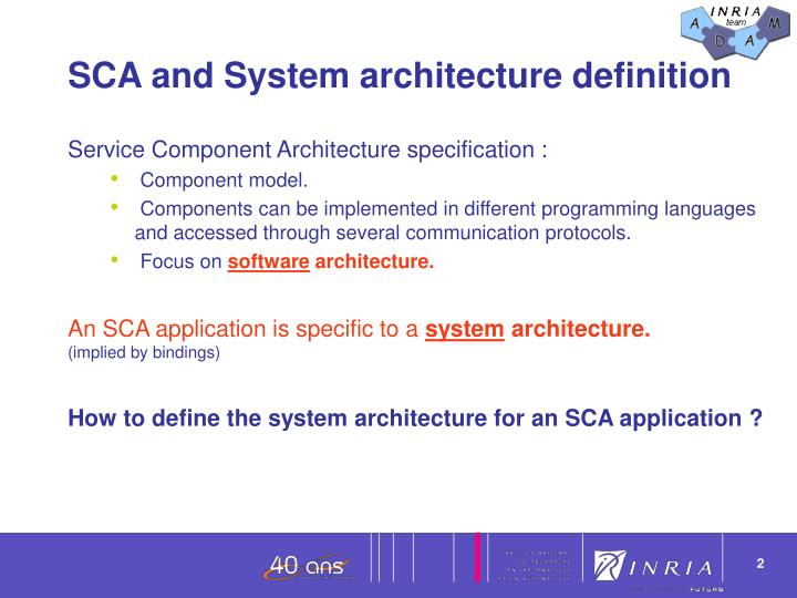 Ppt designing and deploying an sca system architecture for Anarchitecture definition