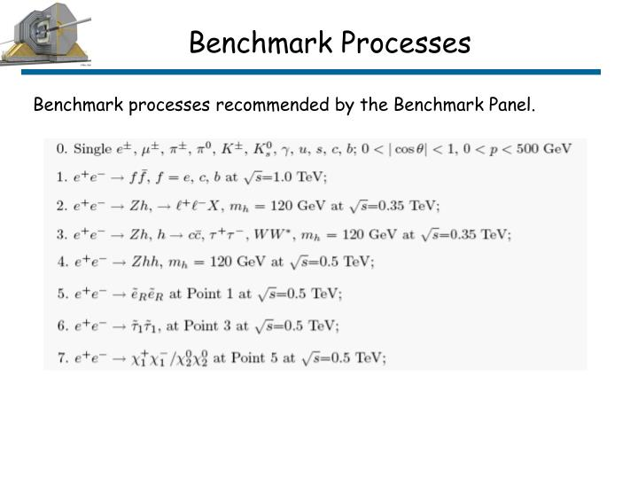 Benchmark Processes