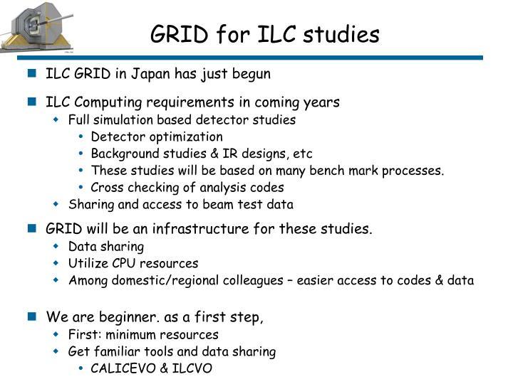 GRID for ILC studies