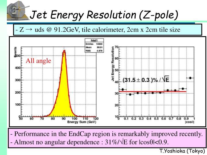 Jet Energy Resolution (Z-pole)