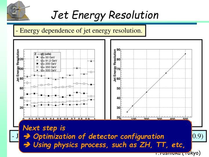 Jet Energy Resolution