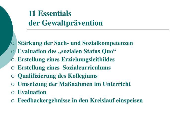 11 Essentials
