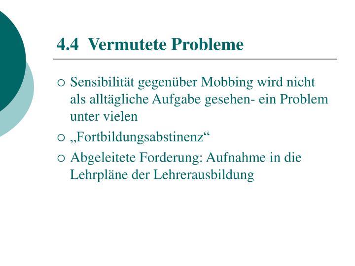 4.4  Vermutete Probleme