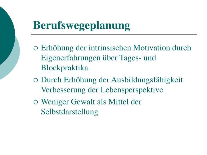 Berufswegeplanung