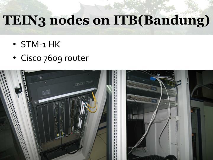 TEIN3 nodes on ITB(Bandung)