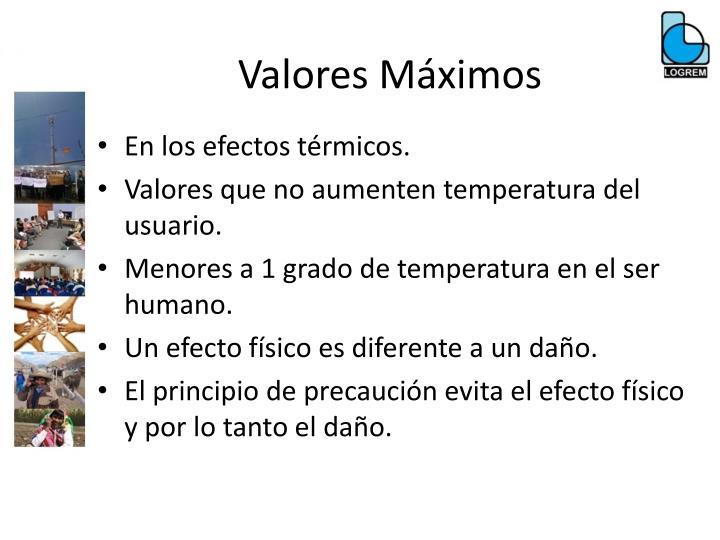 Valores Máximos