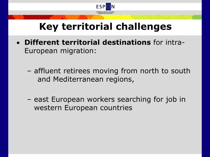Key territorial challenges