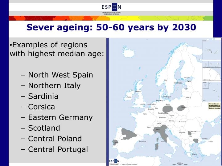 Sever ageing: 50-60 years by 2030