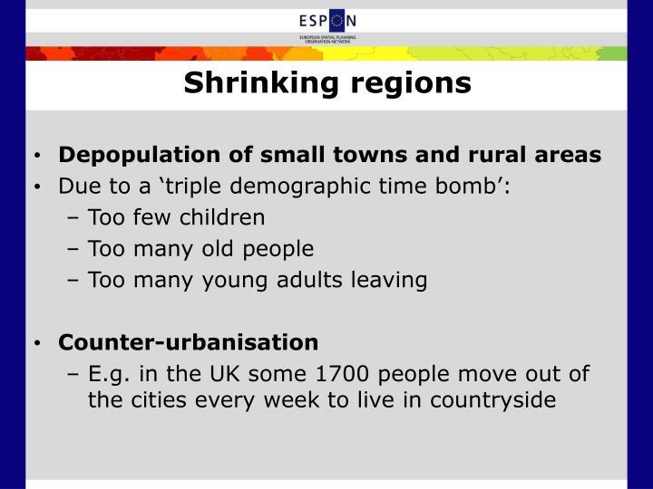 Shrinking regions