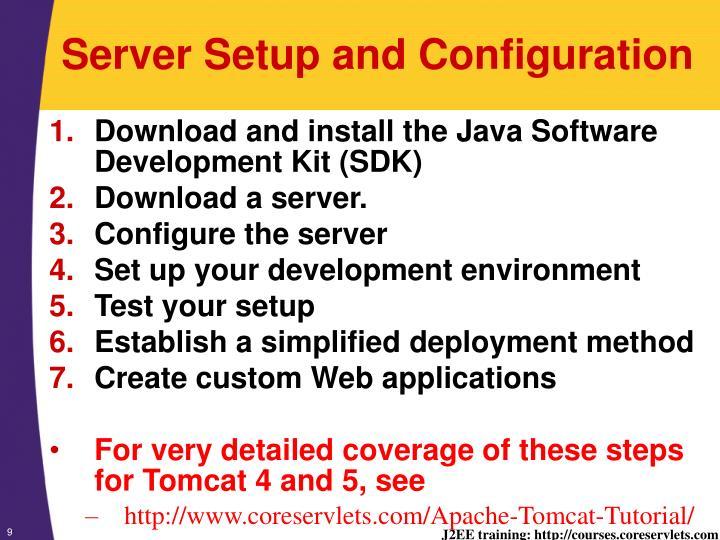 Server Setup and Configuration