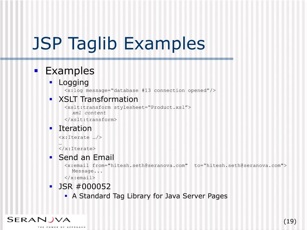 PPT - JSP Tag Libraries based Framework for Wireless