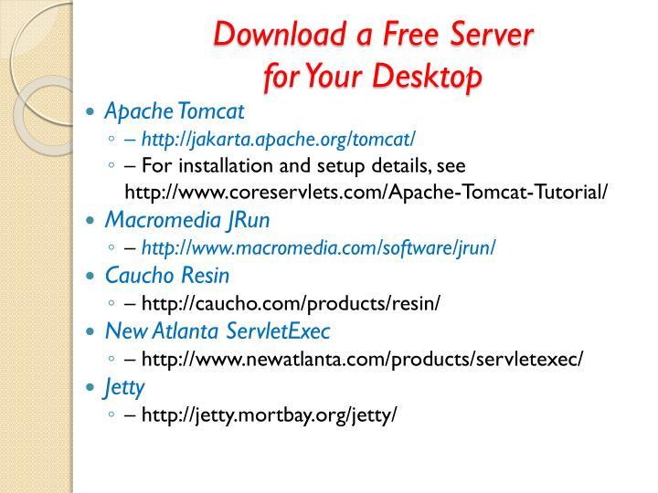 Download a Free Server