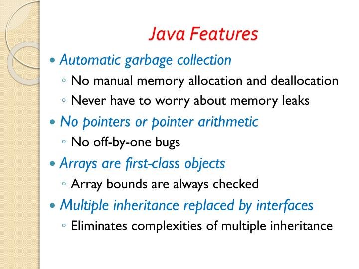 Java features