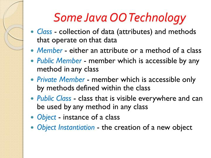 Some Java OO Technology