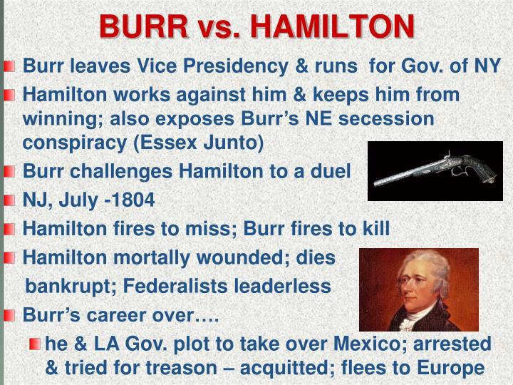 BURR vs. HAMILTON