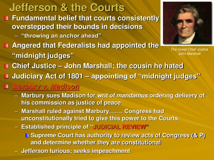Jefferson & the Courts