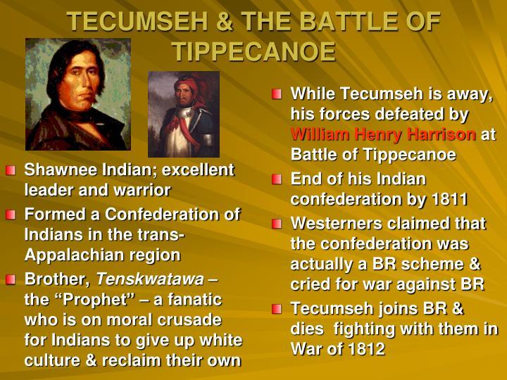 Shawnee Indian; excellent leader and warrior