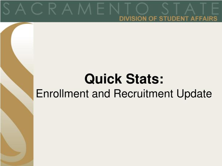 Quick Stats: