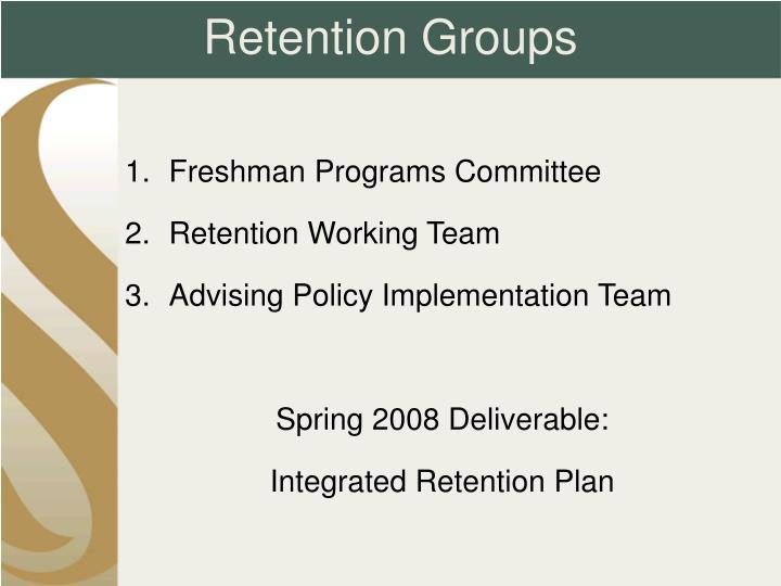 Retention Groups