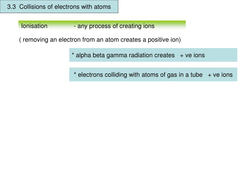 ionization of gases by radiation