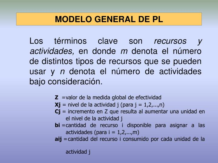 MODELO GENERAL DE PL